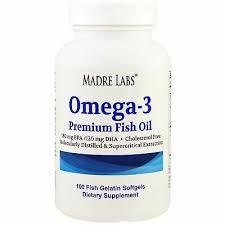 NEW MADRE LABS, <b>Omega</b>-<b>3</b>, <b>Premium</b> Fish Oil, 100 Fish Gelatin ...