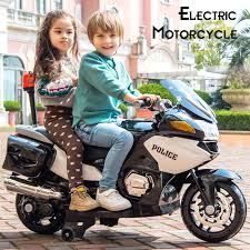 Large Children Electric Motorcycle Four Wheel Baby Kids Toy Car ...