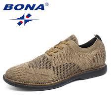 <b>BONA New Fashion Style</b> Men Casual Shoes Flying Weaven Men ...
