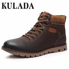 <b>KULADA</b> Boots Men Leather Sneakers Boots Fashion <b>Winter Snow</b> ...