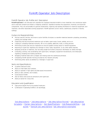 forklift job description for resume perfect resume  forklift job description for resume