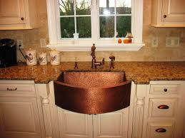 hammered copper kitchen sink: image of antique hammered copper farmhouse sink
