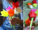 Цветы оригами из бумаги своими руками