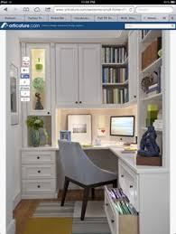 smaller office idea if in an alcove or close off the loft area alcove office