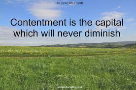 Image result for contentment hadith