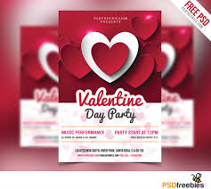 holiday psd at psd com valentine day party flyer psd
