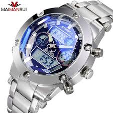 MAIMANRUI <b>Luxury Brand Men</b> Military <b>Men's Digital</b> Quartz Clock ...