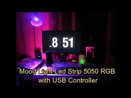 Mood Light <b>Led</b> Strip <b>5050 RGB</b> with <b>USB</b> Controller - YouTube