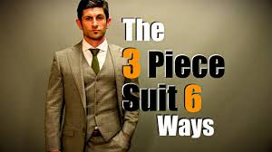 Men's <b>Style</b> Tip: The <b>3 Piece</b> Suit Styled 6 Ways - YouTube