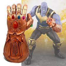 Marvel Thanos Electronic Party Gauntlet <b>Glove</b> Toy <b>PVC Cosplay</b> ...