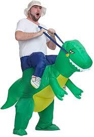 AOGU Inflatable <b>Dinosaur</b> Riding <b>T-REX</b> Costume <b>Halloween</b> ...
