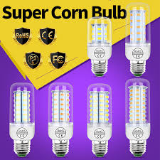 <b>GU10 LED Lamp</b> E27 bombillas <b>led</b> 220V E14 <b>Corn Bulb</b> 5730 24 ...