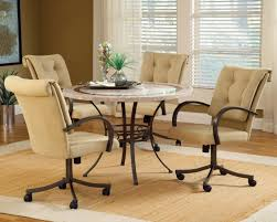 size padded dining full size of dining sets with rolling chairs kitchen sets with caster