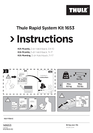 <b>Thule</b> Rapid System <b>Kit</b> 1653