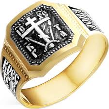 Купить Мужское серебряное кольцо <b>Серебро России</b> KZHZ-042 ...