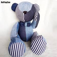 <b>25Cm</b>/10'' Kawaii Joint Teddy Bears Stuffed Plush Denim <b>Cute</b> Toy ...