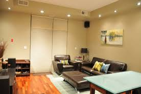 modern ideas decobizz recessed decoration design with beige wall and beautiful lighting featuring brown leather sofa amazing family room lighting ideas