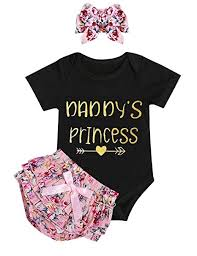 Infant Baby Girl Clothes Daddy's Girl Letter Print ... - Amazon.com