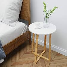 BAMEOS Side Table Modern Nightstand Round Side ... - Amazon.com