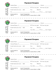 Payment coupon book template excel ✩ Free Downloads payment coupon book template excel