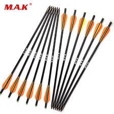 <b>6/12</b>/<b>24pcs 17/20 inch</b> MAK Fiberglass Crossbow <b>Arrow</b> with ...