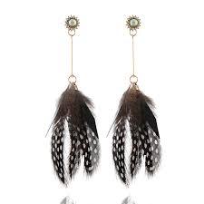 <b>HOCOLE</b> 2018 <b>Fashion</b> Feather <b>Drop</b> Earrings for Women Ethnic ...
