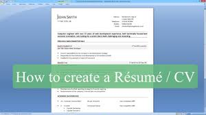 resume template how to write a cv microsoft word how to write a resume cv microsoft word regarding how to make resume one page