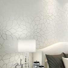 room elegant wallpaper bedroom: color white and yellow m x m white lotus flower wallpaper