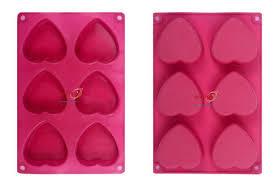 <b>Silicone Soap Mold</b> - <b>Silicone</b> Rubber <b>Soap Mold</b> 100 gm Heart 6 ...