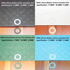 <b>100pcs</b>/<b>lot 18650 lithium battery</b> insulation gasket 18650 flat head ...