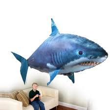 <b>Remote</b> Control Shark Toys Air Swimming <b>Fish Infrared</b> RC <b>Flying</b> ...