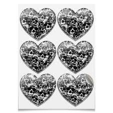 Наклейки-сердца 7.5×9.7 см Камуфляж &quot