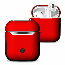 Luxury Silicone Cover For Airpods Cases <b>Soft TPU</b> + <b>PC</b> Dual Layer ...