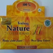 Hasil gambar untuk kapsul gamat emas nature 77 30