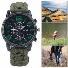 6 in 1 <b>Multifunction</b> Waterproof <b>Outdoor</b> Camping Survival Watch ...
