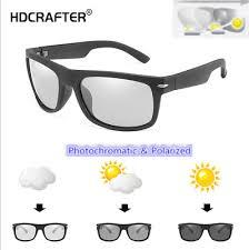 Men's <b>Polarized Photochromic Sunglasses</b> Outdoor Driving Riding ...