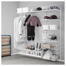 algot wall uprightshelvesrod white width 74 34 algot white wall mounted storage solution