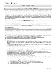customer service manager resume sample example of best customer service manager resume customer
