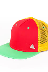 <b>Бейсболка TRUESPIN 3</b> Tone Blank Trucker Cap (Red-Yellow ...
