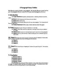 five paragraph essay outline printable