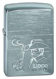 <b>Зажигалка ZIPPO Cowboy</b>, с покрытием Brushed Chrome, латунь ...