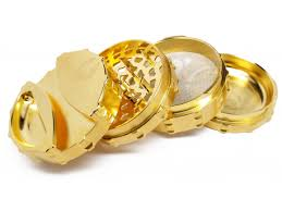 ELITE SERIES - Large 4pc Grinder - <b>24 Karat Gold Plated</b> with ...
