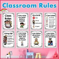 <b>20Pcs</b>/Set English Classroom Rules Kindergarten A4 <b>Posters</b> ...