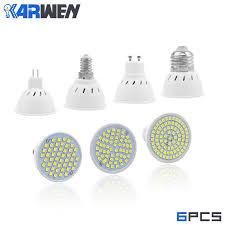 KARWEN <b>GU10 MR16</b> E27 E14 <b>LED Bulb</b> AC220V Bombillas LED ...