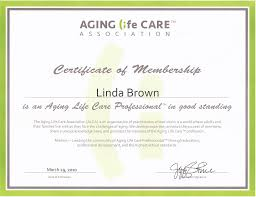 family care management care coordination for seniors and older certificate