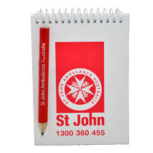 Notepad and <b>Pencil</b> in <b>Bag</b> | St John Ambulance Australia <b>First Aid</b> ...