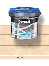 <b>Затирка</b> эластичная для <b>швов Ceresit</b> CE 40 (персик 28), 2 кг ...