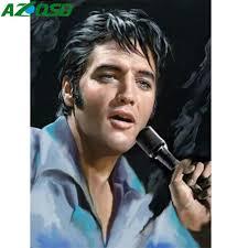 <b>AZQSD</b> Oil Painting By Number <b>Elvis Presley</b> Painting Drawing <b>DIY</b> ...