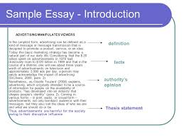 argumentative essay  argumentation the aim of writing    sample essay   introduction advertising manipulates viewers in the simplest form  advertising can be defined