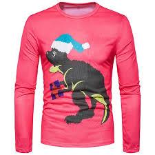 Men's 3D <b>Printing</b> O-Neck Long Sleeve T-Shirts <b>Cartoon Animal</b> ...